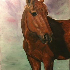 Thea – Equine Portrait in Oil