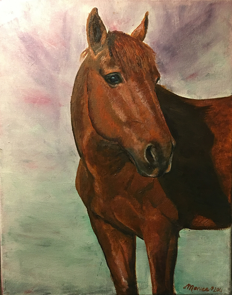 Thea - equine portrait in oil