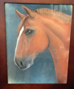 Leibling - 16x20 Pastels behind glass frame