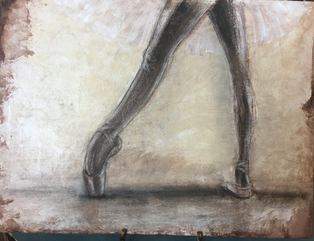Ballet Study 1 ©Monica Yother - a ballet painting