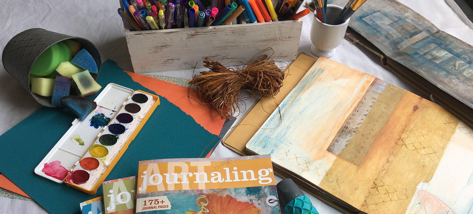 art journaling materials